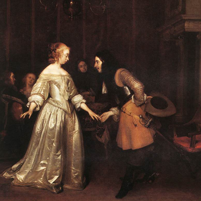 Gerard ter Borch Dancing couple aus1